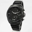 【萬年鐘錶】elegantsis  三環 重機競速錶 黑x黑  47mm  ELJT42R-6B07MA