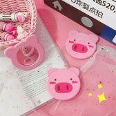 化妝鏡  ins粉色小豬少女心圓鏡子迷你隨身鏡手拿化妝鏡韓版可愛學生便攜
