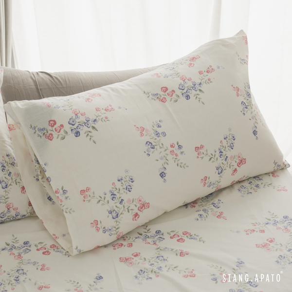 純棉 床包被套組(薄) 雙人【La Fleur】ikea風 100%精梳棉 翔仔居家