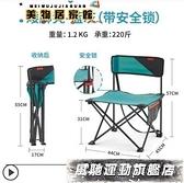 戶外釣魚椅 迪卡儂戶外折疊椅子便攜露營折疊凳釣魚椅隨身靠背椅馬扎凳子ODCF 風馳