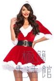 聖誕節聖誕老人服裝性感V領成人冬女裙【極簡生活】