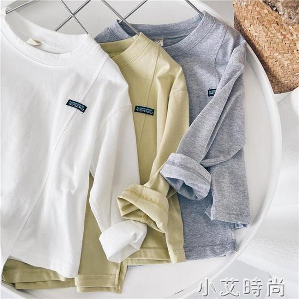 小杰家童裝男童T恤春季新款長袖寬鬆休閒中小童韓版洋氣兒童上衣 小艾新品