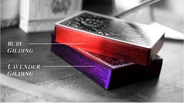 【USPCC撲克】hand gilded sentiments 紫色