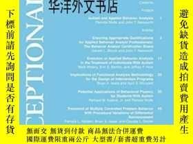 二手書博民逛書店【罕見】 Autism And Applied Behavior Analysis-自閉癥與應用行為分析Y22
