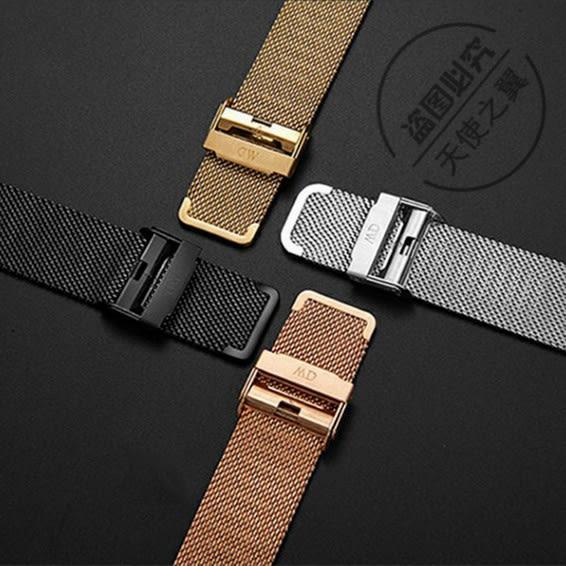 手錶帶DW手錶帶男女原裝米蘭不銹鋼精鋼金屬錶鍊36 40 ck鋼帶14 18 20mm 快速出貨
