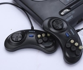 MD世嘉16位黑卡插卡游戲機手柄FC80後懷舊復古SEGA