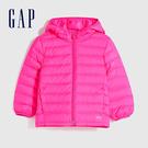 Gap女幼童 可愛印花絎縫式拉鍊連帽外套 593169-紫紅色