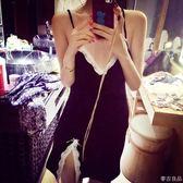 夏季純棉質蕾絲吊帶性感睡裙情趣極度誘惑女睡衣套裝家居服兩件套  麥吉良品