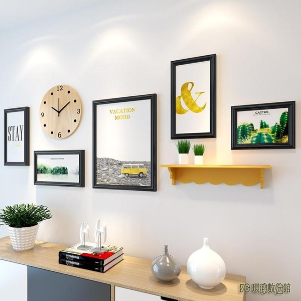 歐式照片墻裝飾客廳自粘貼創意相框掛墻臥室懸掛相冊無痕釘相片墻wl6688[3C環球數位館]