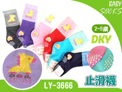 LY-3666長統寶寶襪-6雙 長頸鹿 止滑童襪 2~5歲 台灣製