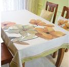 美式鄉村餐桌布藝 田園花鳥圓桌方桌布 加厚棉麻茶几桌布不褪色