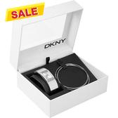 DKNY 柔美之戀曲晶鑽手環套錶組 NY8496