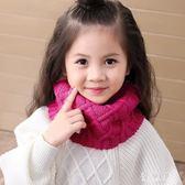 兒童圍巾秋冬男童純色百搭脖套女童寶寶針織毛線冬季韓版套頭圍脖 QG9824『優童屋』