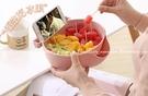 【懶人瓜果盤】可瀝水水果盤 多用雙層零食盒 手機架乾果盤