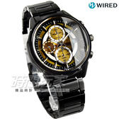 WIRED SOLAR 限量潮流玩家太陽能計時腕錶 男錶 IP黑電鍍x金 AY9007X1 V176-0AK0SD 防水手錶 日期顯示