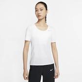 NIKE CITY SLEEK 女裝 短袖 慢跑 反光 輕巧 透氣 白【運動世界】 CU3235-100