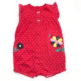 Carter s 蝴蝶袖兔裝連身衣 前扣 純棉紅點點 女寶寶【CA118H893】