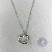 BRAND楓月 TIFFANY&CO. 蒂芬妮 925純銀 鏤空 愛心 銀鍊 項鍊 銀飾 飾品 配件