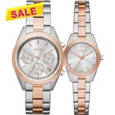 DKNY Jitney 紐約戀人時尚對錶/情侶手錶-雙色版/38+28mm NY2270