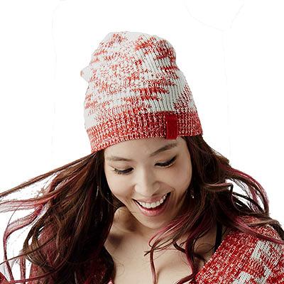 Hurley PATIENT BEANIE 毛線帽 - 女(紅/米白)