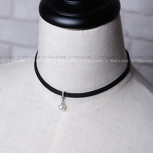 5天出貨★簡約頸帶珍珠項鍊短款鎖骨鏈脖子頸鍊★ifairies【30658】
