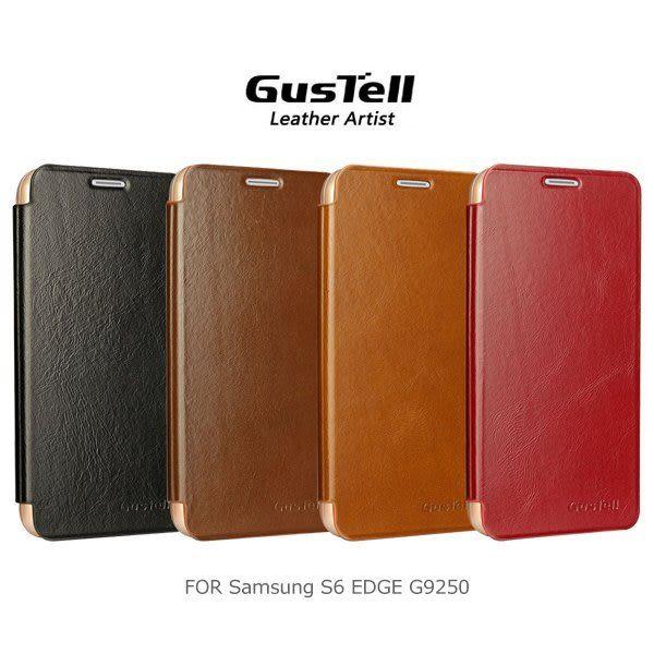 GUSTELL 谷斯特 Samsung S6 EDGE G9250 油蠟皮可立皮套 支架皮套 可站立