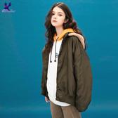 【出清單一特價】American Bluedeer - 毛毛連帽飛行外套(魅力價) 秋冬新款