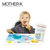 ✿蟲寶寶✿【韓國 MOTHER-K 】攜帶方便 乾淨衛生 寶寶抗菌餐桌墊 (20入) - 貓頭鷹款