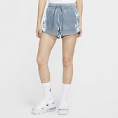 Nike AS W NSW Air Short Sheen 女 灰藍 休閒 光澤 絲質 滑布 短褲 CU5521-031