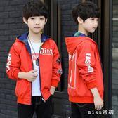 中大尺碼男童外套寬鬆中大童潮裝新款兒童韓版休閒夾克上衣潮 js9040『miss洛羽』