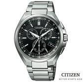 CITIZEN光動能電波錶 萬年曆鈦金屬 手錶(CB5040-80E) 現貨