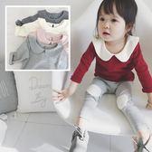 *╮小衣衫S13╭*女童女寶寶百搭小翻領長袖柔軟上衣1060936
