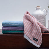 【MORINO】美國棉雙面條紋毛巾