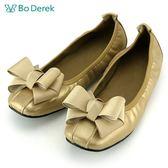 ~ ~~Bo Derek ~法式蝴蝶結鬆緊帶娃娃鞋金
