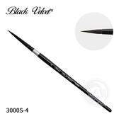 『ART小舖』Silver Brush美國 黑天鵝絲絨Black Velvet 松鼠混合毛圓頭筆3000S 4號