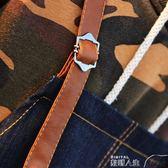 圍裙韓版時尚牛仔布圍裙咖啡店師可愛純棉日式成人男女工作服帆布定制 數碼人生