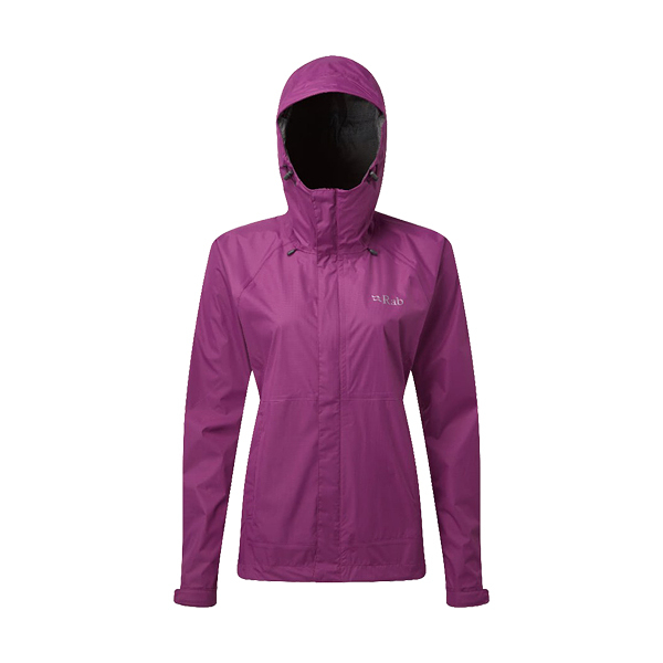 [Rab] (女) Downpour Jacket 防水透氣連帽外套 紫羅蘭 (QWF-63-VI)