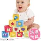 認識動物形狀軟膠積木 嬰兒益智玩具...