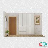 【歐法系統傢俱】一般色 木門對開衣櫃 160CM (2層板2吊桿)