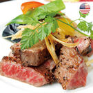 美國日本種9+和牛雪花沙朗牛排1片組(500公克/片)