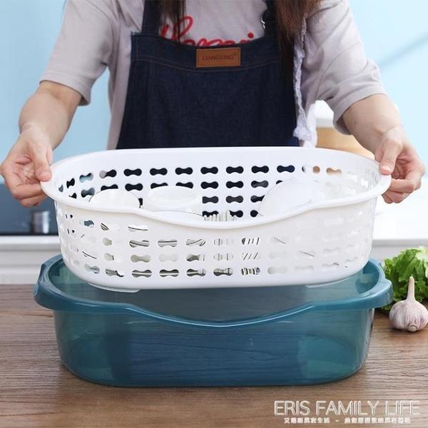 廚房家用帶蓋碗盆碗碟置物架塑料碗櫃裝碗筷收納盒放碗箱瀝水碗架ATF 艾瑞斯居家生活