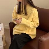 上新特價# 秋冬新款韓版寬松加厚毛衣外穿女慵懶風套頭ins港風針織衫