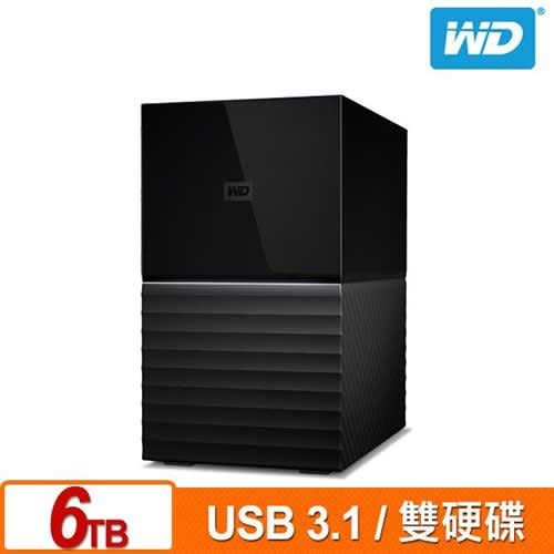 WD My Book Duo 6TB(3TBx2) 3.5吋USB3.1雙硬碟儲存
