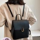 休閒百搭雙肩包女2021新款潮時尚網紅韓版學生書包簡約兩用斜挎包