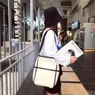 帆布大容量包包女韓版ins日系百搭子母包單肩斜挎包水桶包大包潮【全館免運】