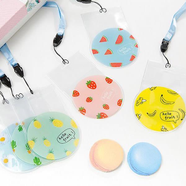 【BlueCat】美食饗宴 小清新圓形水果掛脖悠遊卡包