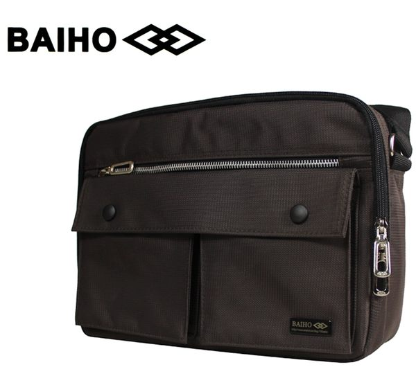 【橘子包包館】BAIHO 台灣製造 多功能 側背包/斜背包 BHO267 咖啡