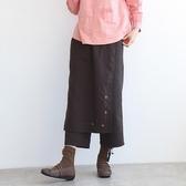 正韓 刺繡蕾絲點綴一片式褲裙 (BBQD) 預購