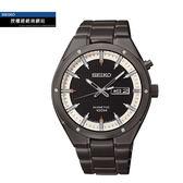 【僾瑪精品】SEIKO KINETIC鉚釘未來感潮流腕錶-黑x白/44mm/5M83-0AB0SD(SMY153P1)