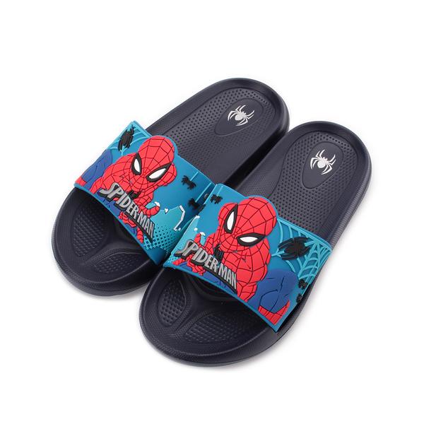 蜘蛛人 SPIDERMAN 立體輕量拖鞋 藍 MNKS99016 中大童鞋 鞋全家福